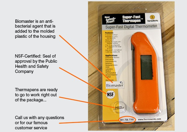 Front of Thermapen Packaging