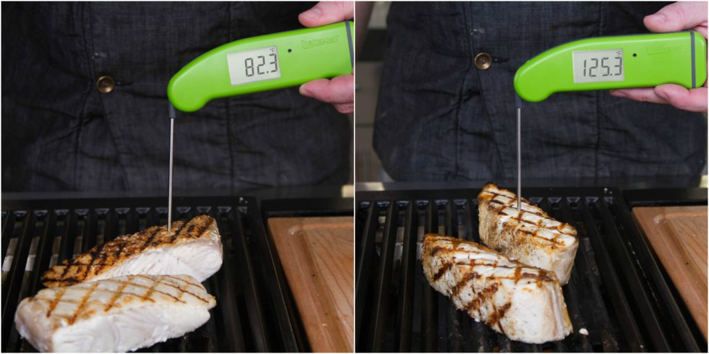 Grilled Halibut temperatures
