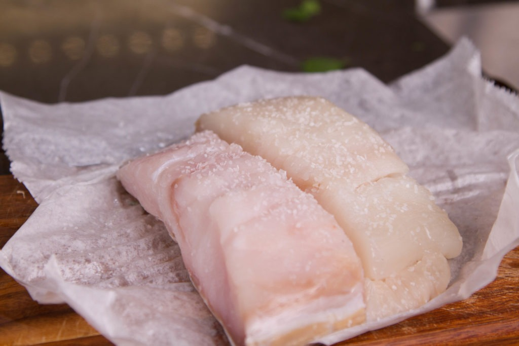 Seasoned halibut for grilling