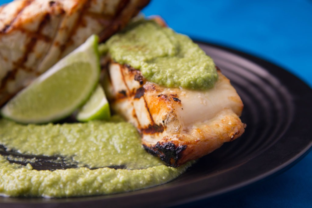 How to grill halibut