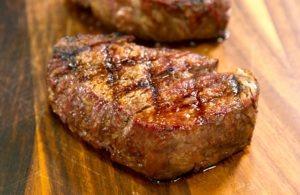 Grilled Filet Mignon steaks resting.