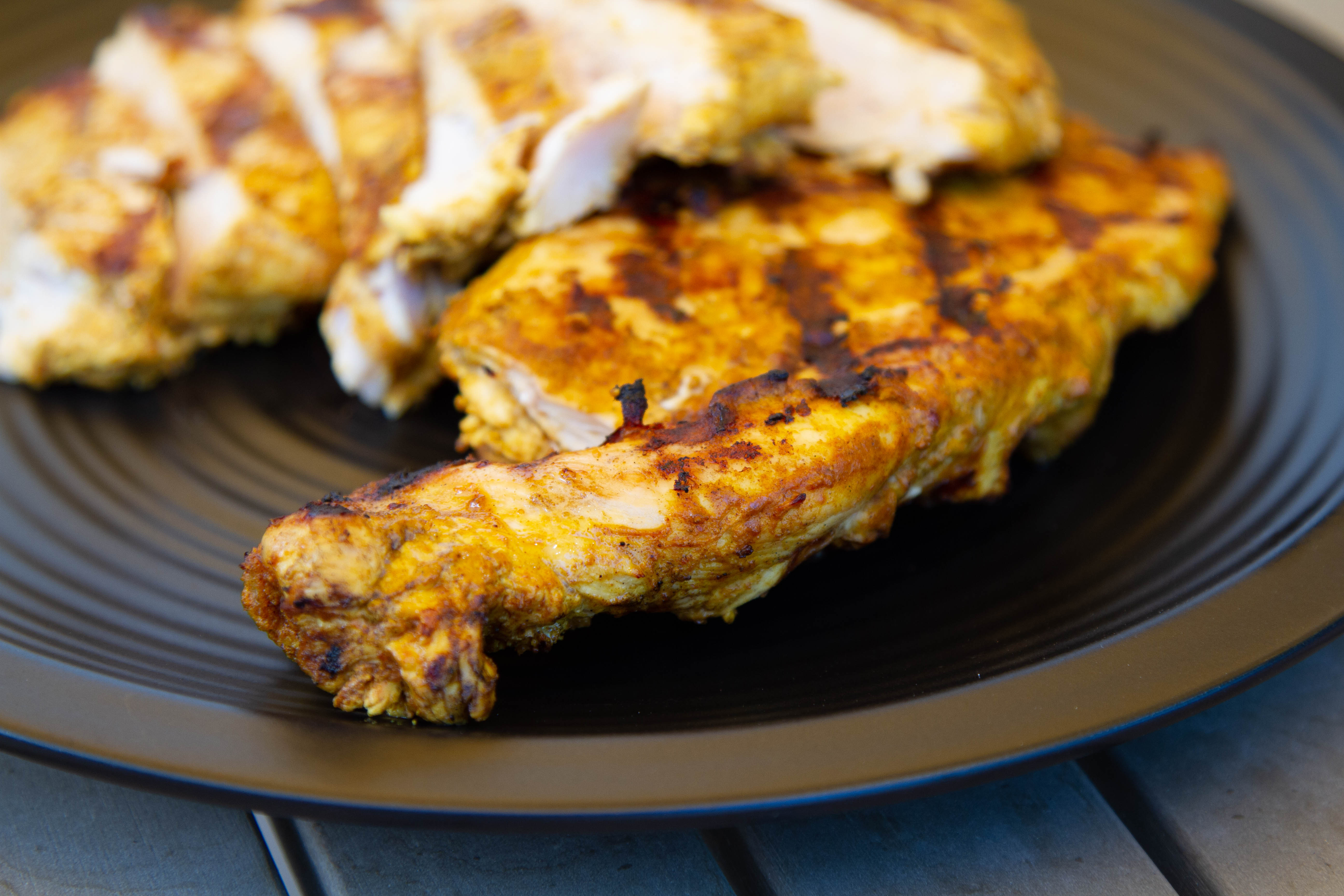 Grilled tandoor-style chicken