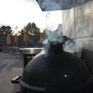Smoking a pork shoulder