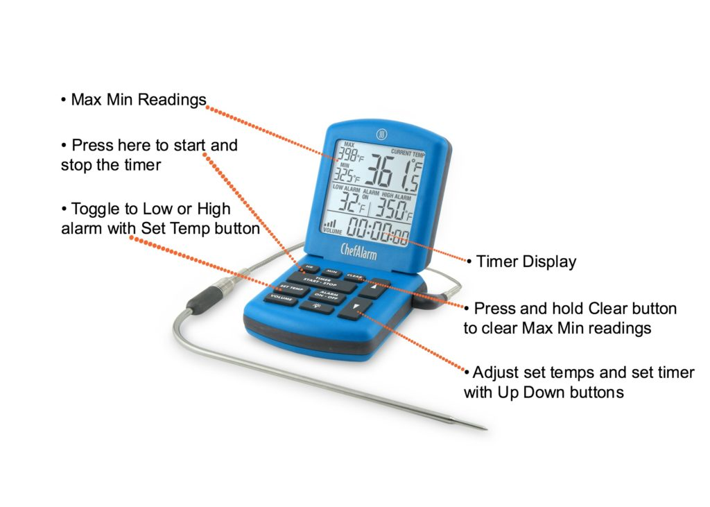 ChefAlarm Oven Thermometer Features