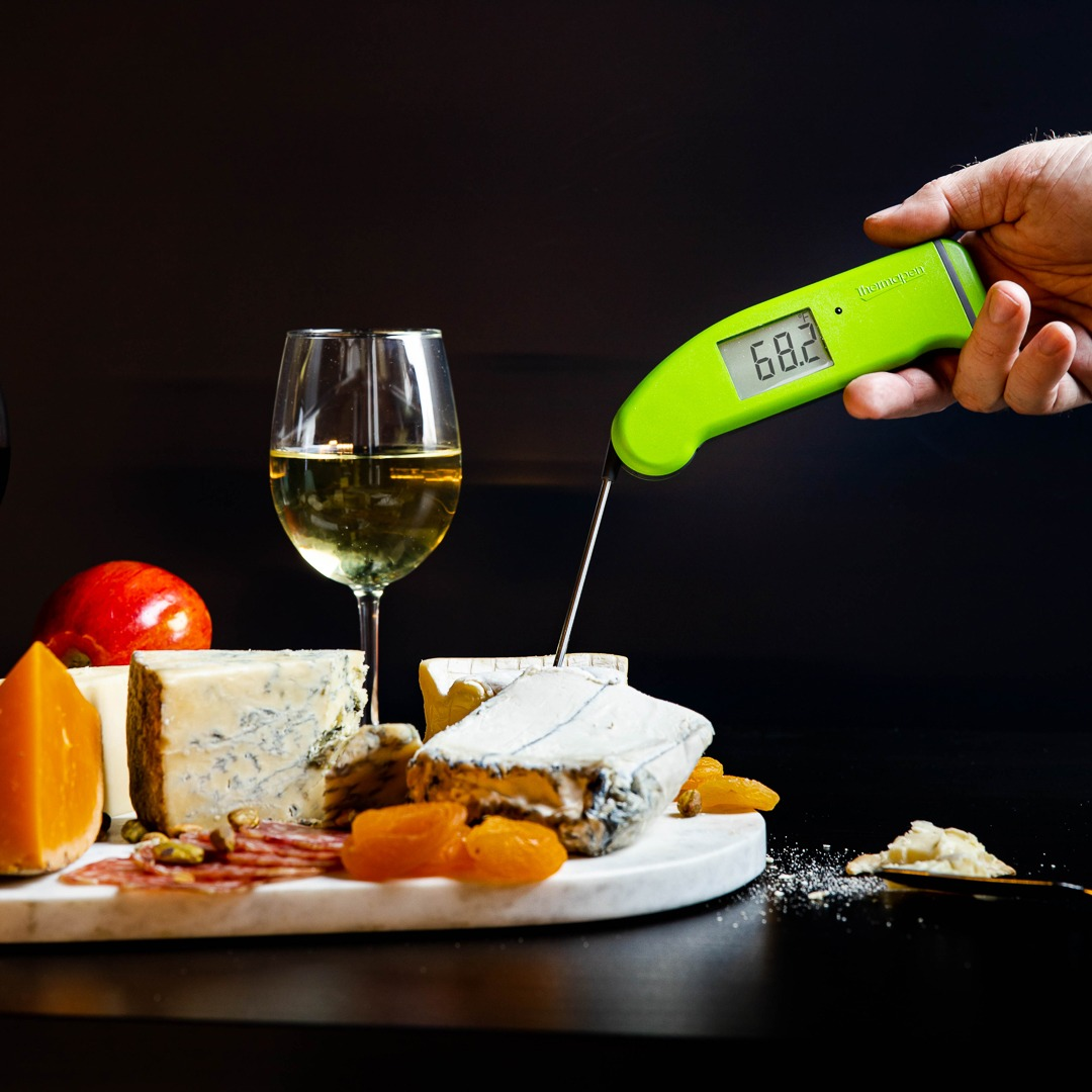Wine and cheese temperatures