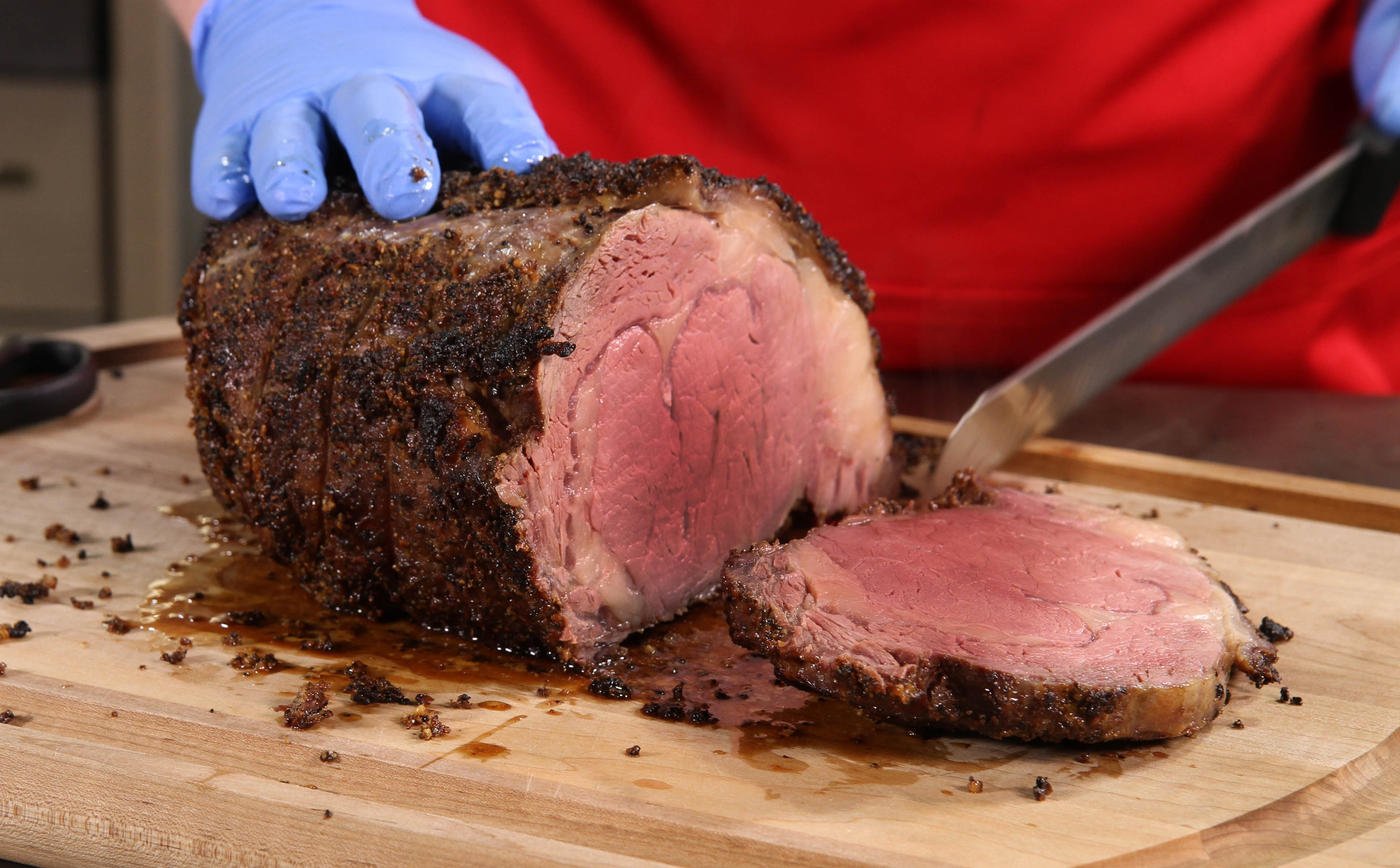 Perfectly cooked Prime Rib
