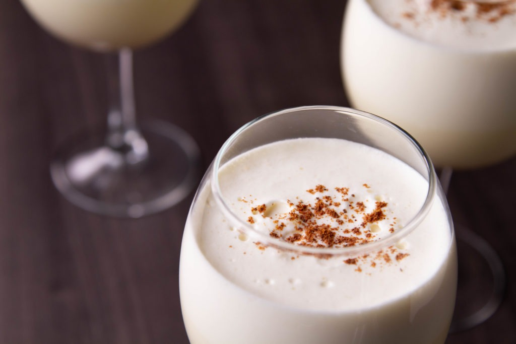 Homemade eggnog temperatures