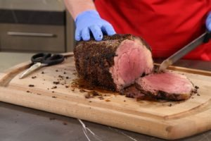 small carved prime rib