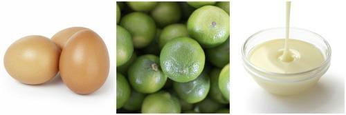 Key Lime Pie Ingredient Collage