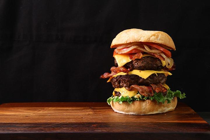 Double burger hamburger