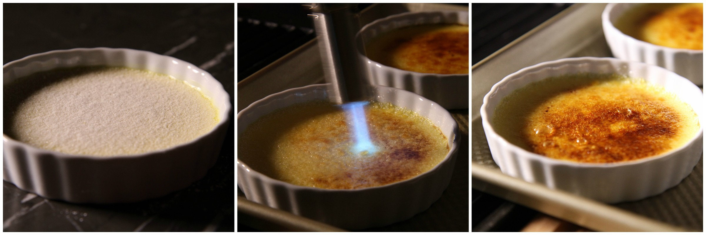 Burning Creme Brulee Collage