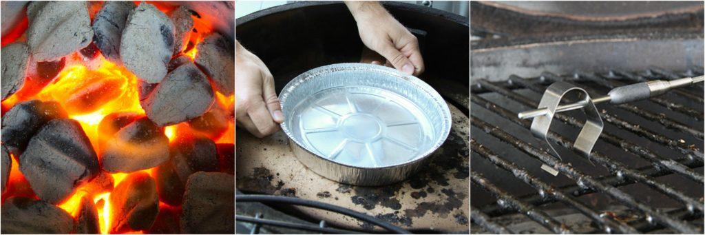Preparing smoker for smoking a brisket