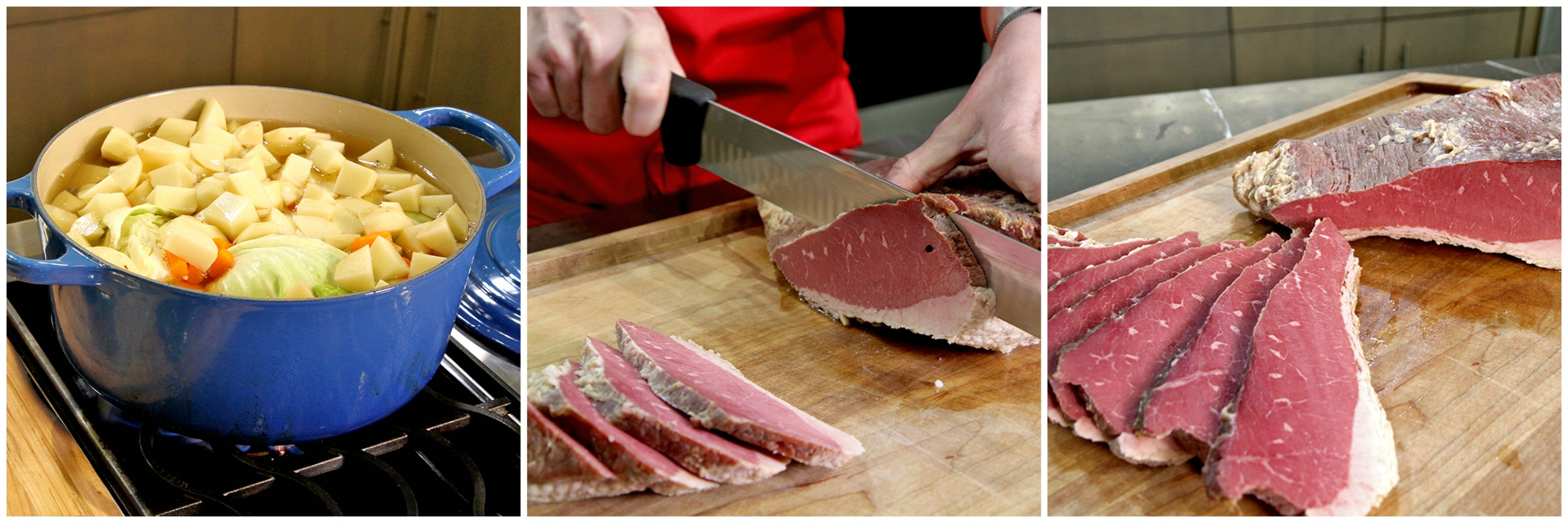 how to cut corned beef
