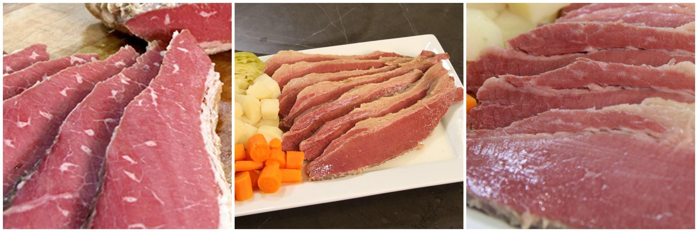 Perfect corned beef cut