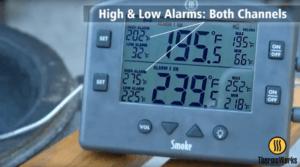 Setting alarm temperatures on Smoke for smoking a brisket