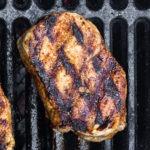 Pork chops grilling