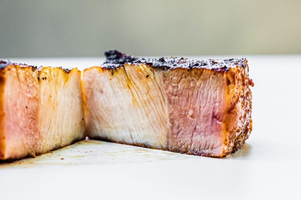 A grilled porkchop