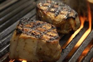 Grilled Pork Temperature is 145°F