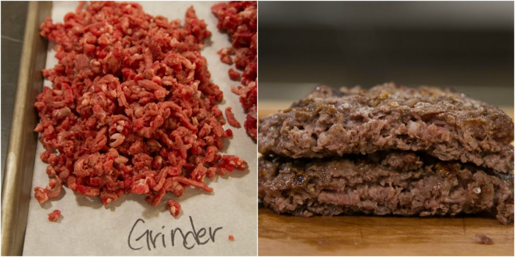 Burger Collage Grinder Before and After