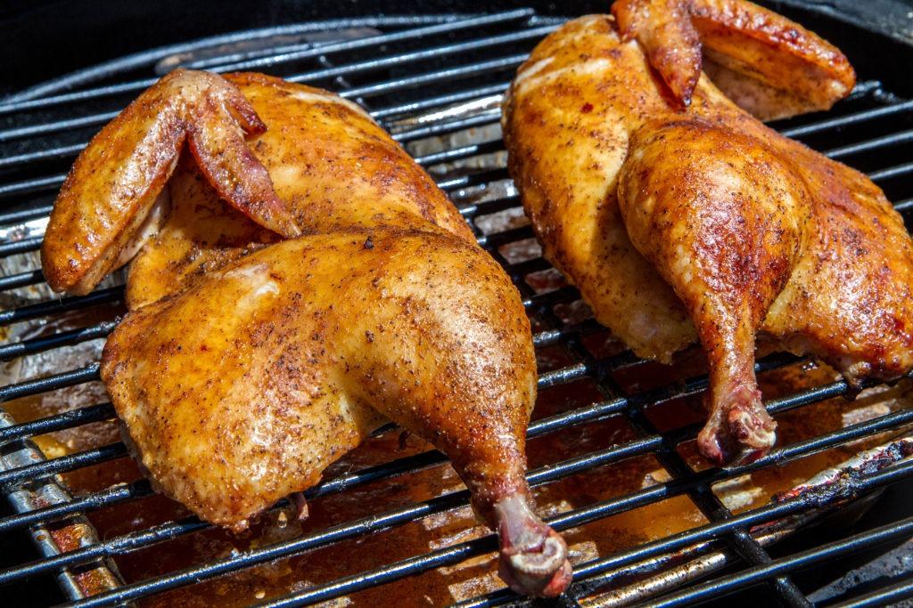 BBQ chicken halves