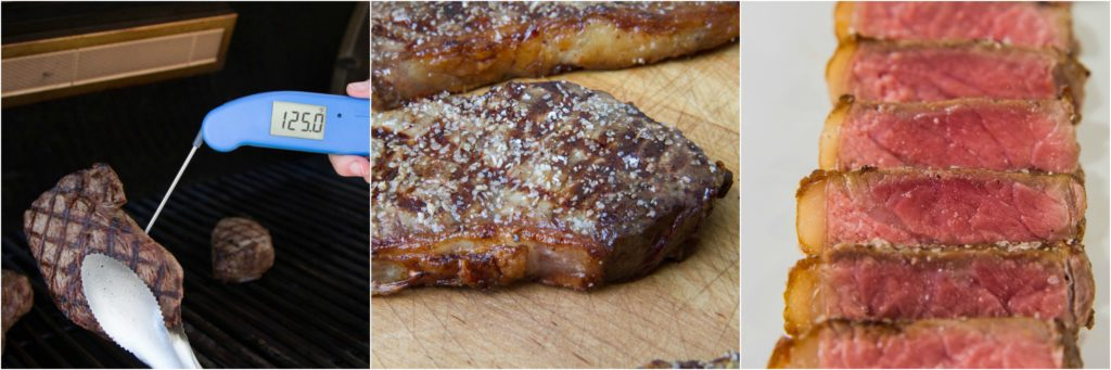 Steak grilled perfectly