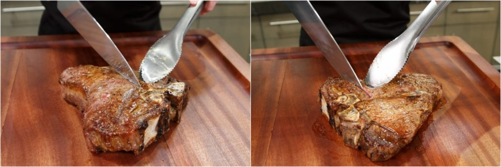 Porterhouse Steak Slicing from Bone