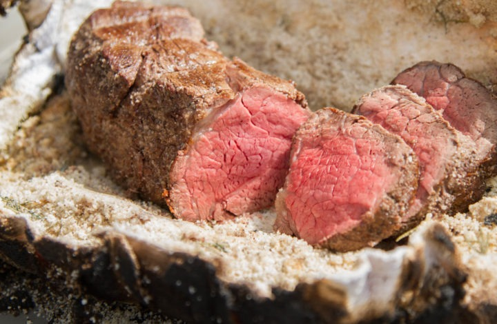 Grilled Tenderloin in a Salt Crust