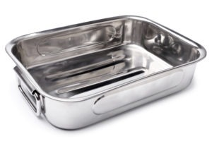 A deep roasting pan will hinder your turkey cook.