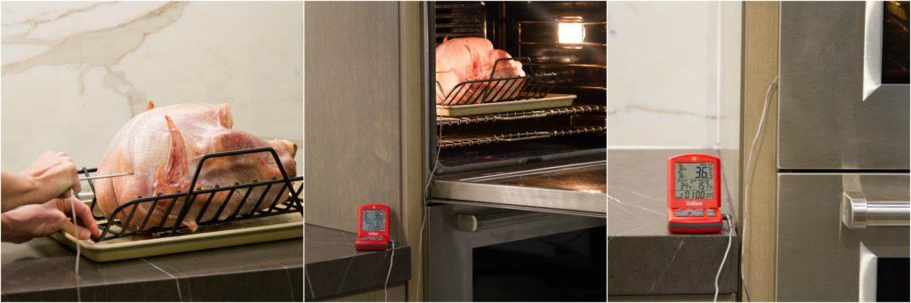 Tracking internal temperature of turkey