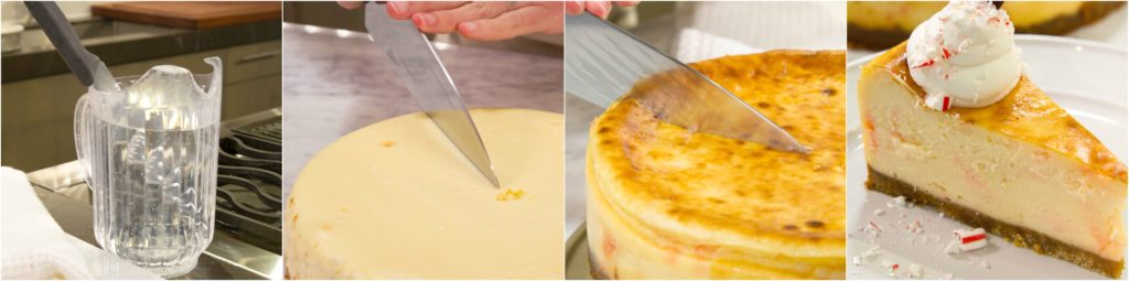 Cheesecake Slice Serve Collage