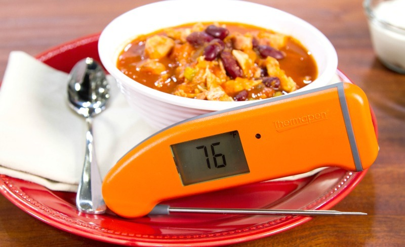 Leftover Thanksgiving turkey chili and Thermapen Mk4