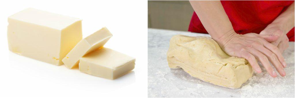 Butter and cold brioche dough
