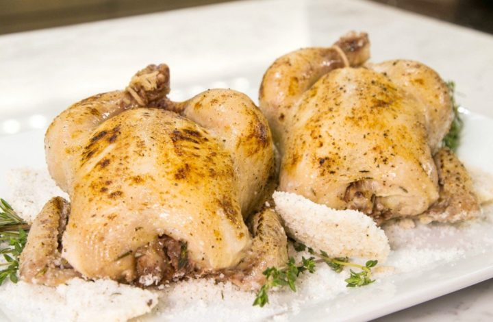 Thermal Tips: Salt-Crusted Cornish Game Hen