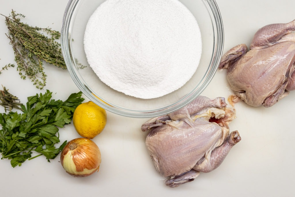 Ingredients for game hens