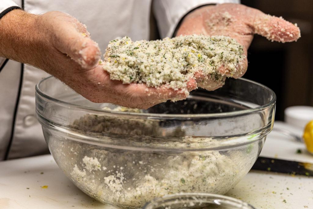 The salt for the salt crusted Cornish hens
