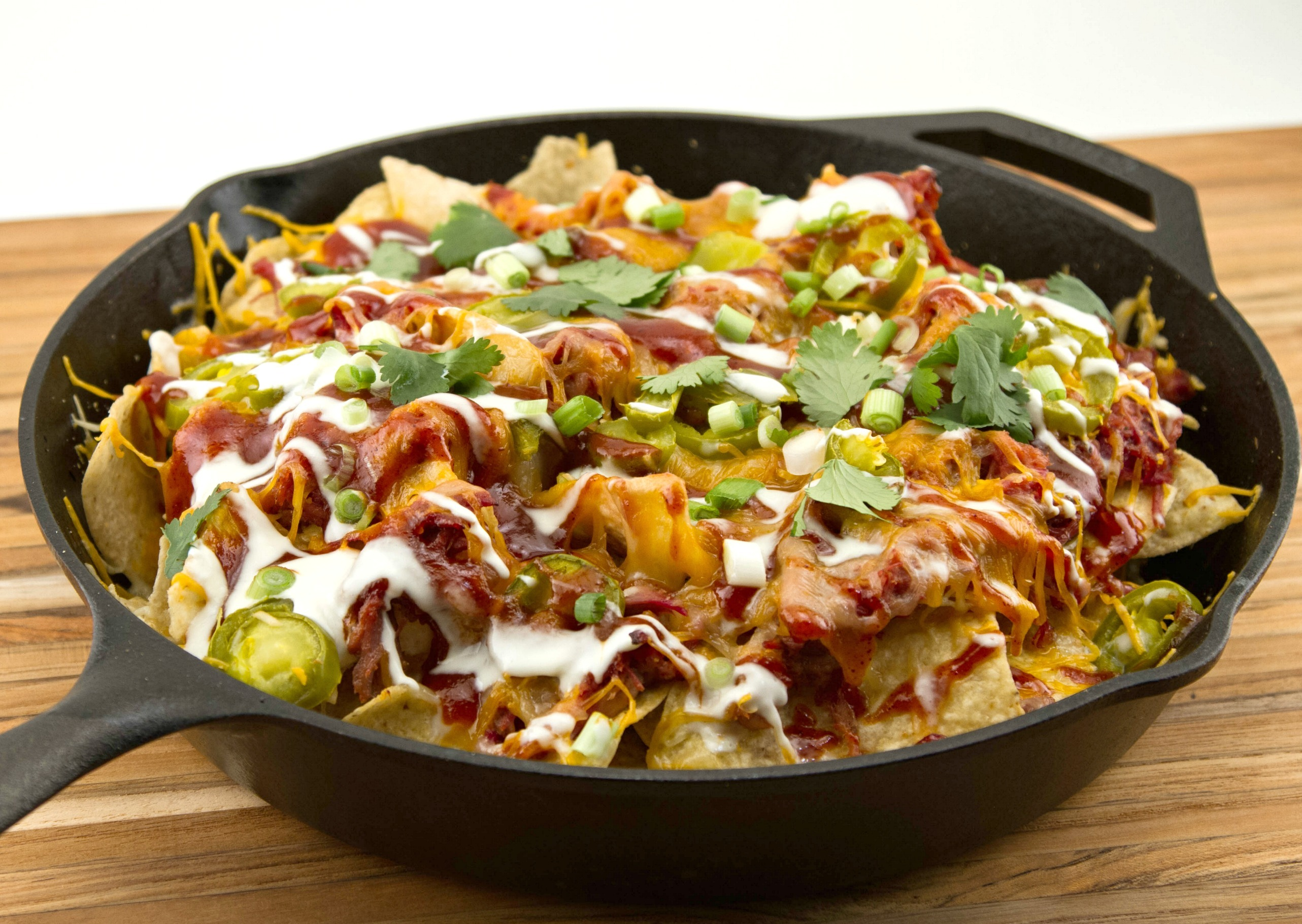 Smoked Pulled Pork: Game Day Loaded Nachos