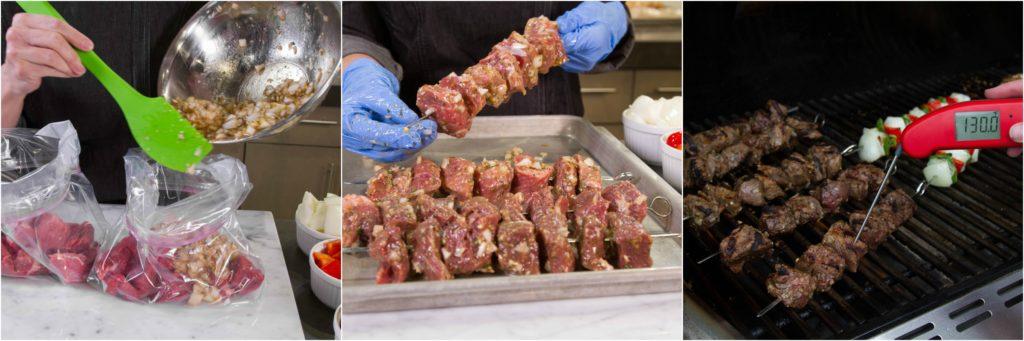 Kebabs Beef Collage
