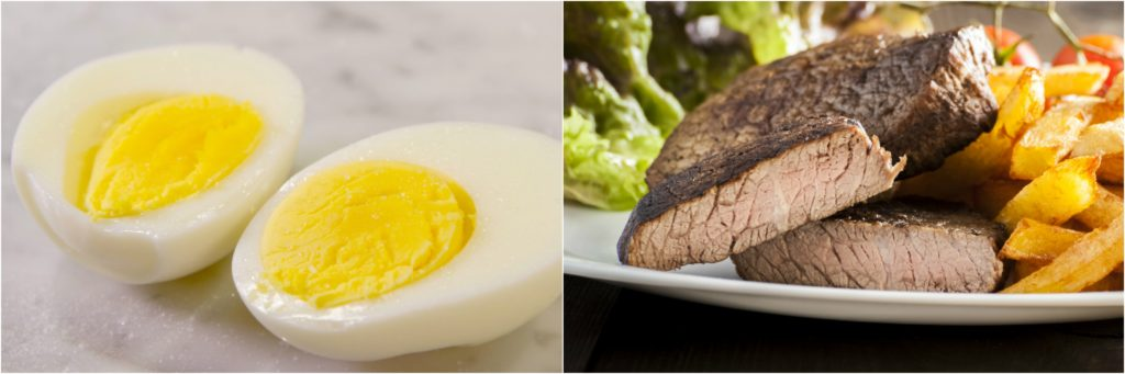 The temperature gradients of a hard boiled egg are similar to a well-done steak.