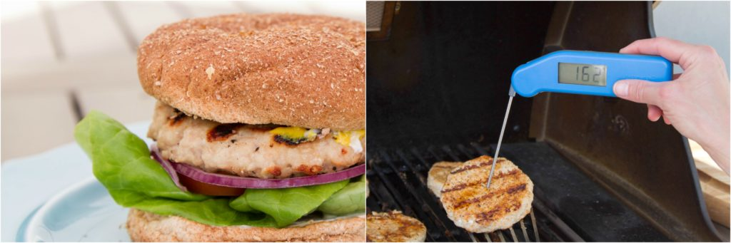 Grilling Turkey Burgers, Thermapen