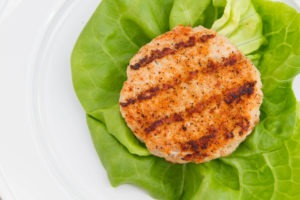 Grilled Butterball turkey burger