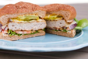 Juicy grilled turkey burger, Butterball, ThermoWorks, Thermapen