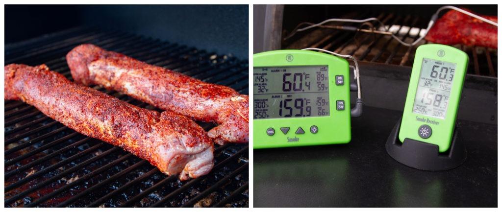 Smoke the pork tenderloins to 145°F
