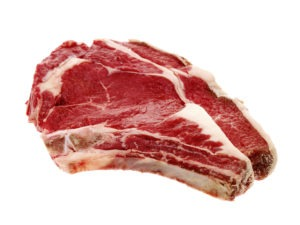 Raw Rib Eye Steak