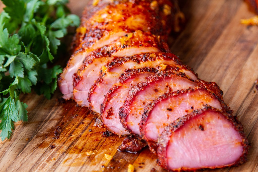 Pork tenderloin temperature is 145°F. Get the recipe.