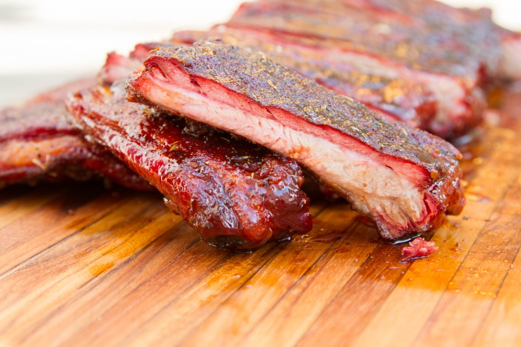 Competition-style BBQ pork ribs
