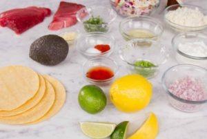 Fish Tacos Ingredients Photo
