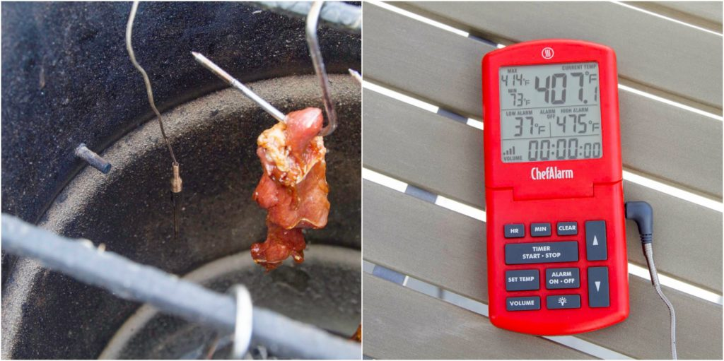an air-probe thermometer can help establish proper cooking temp