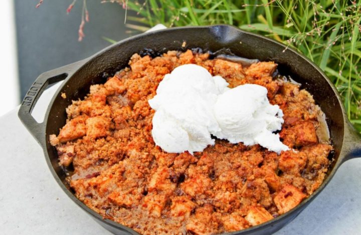 Smoked Apple Crisp with Bacon