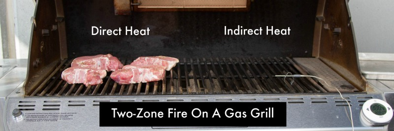Grilled Pork Chops Two-Zone Fire Setup