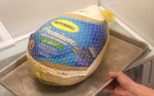 Thaw turkey in the fridge